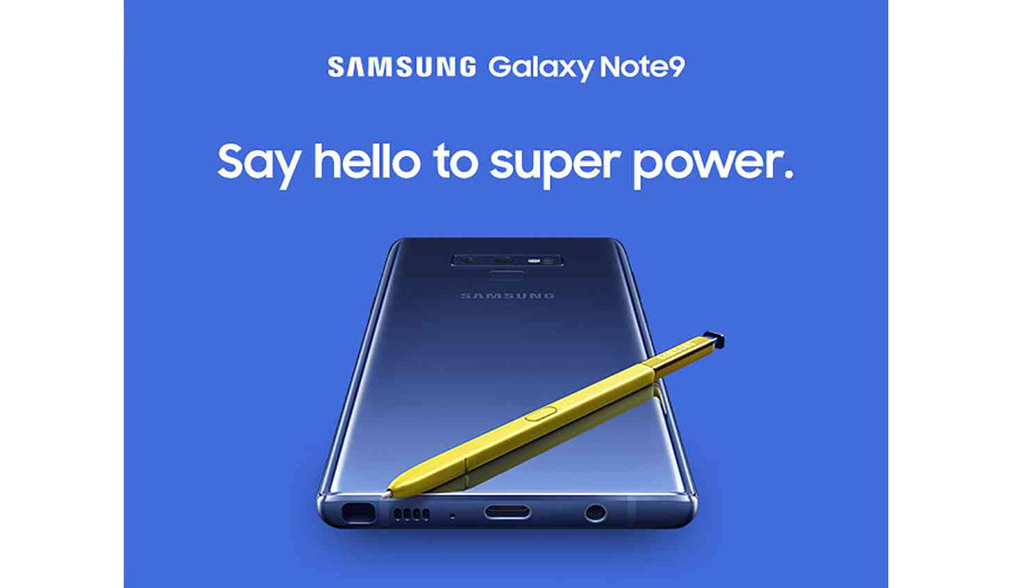 Samsung Galaxy Note 9 web page leak