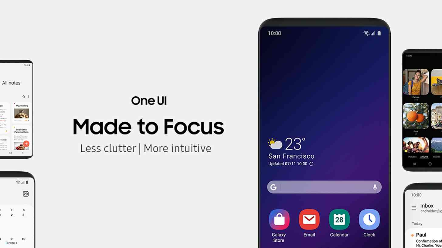 Samsung One UI user interface