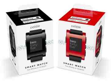 Pebble smartwatch retail boxes