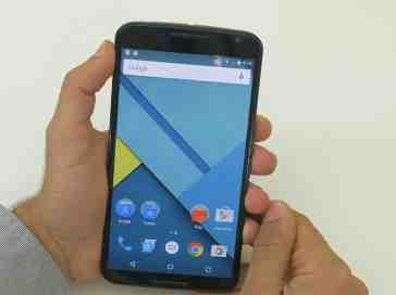 Google Motorola Nexus 6 front in hand