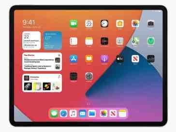 iPadOS 14 widgets on iPad Pro