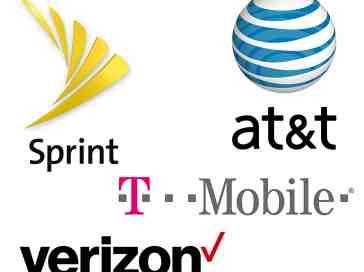 Four major US carrier logos