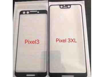 Google Pixel 3 XL screen protector leak