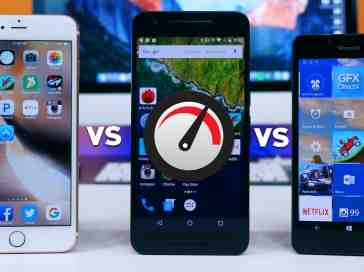 Lumia 950 vs iPhone 6s Plus vs Nexus 6P Speed Test - PhoneDog