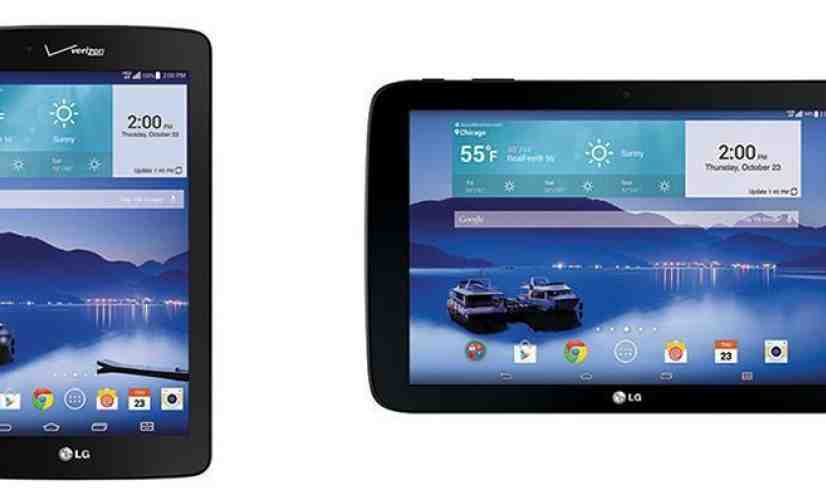 LG G Pad 7.0 LTE, LG G Pad 10.1 LTE Verizon