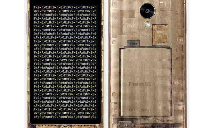 LG Fx0 transparent Firefox OS smartphone