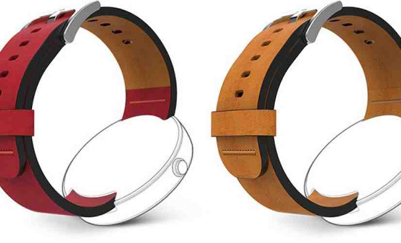 Moto 360 DODO leather bands red, tan