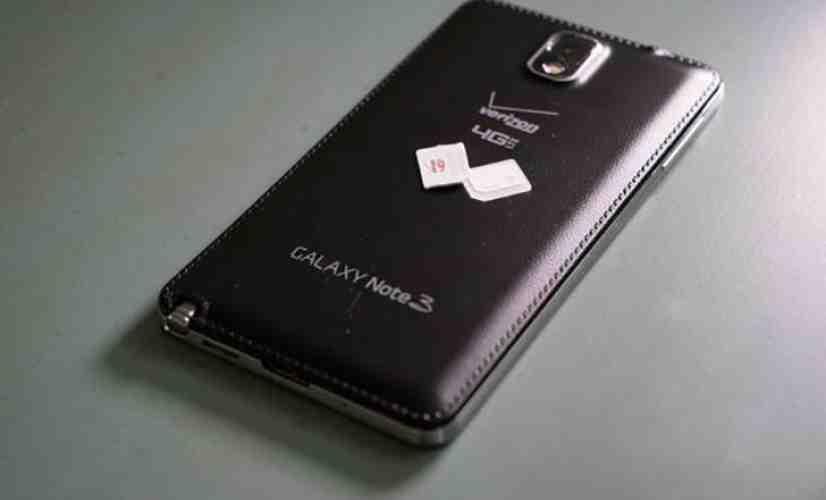 Verizon Galaxy Note 3 SIM card