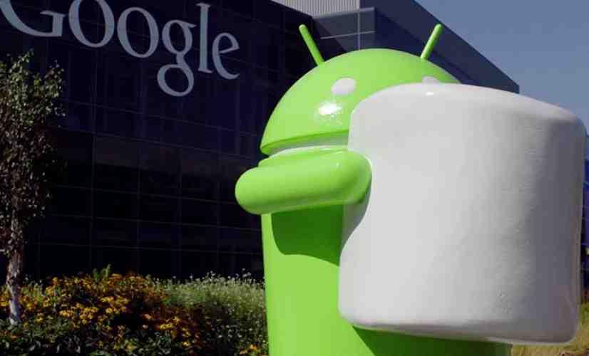 Android Marshmallow statue Google