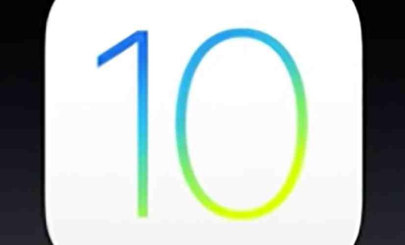 iOS 10 logo black