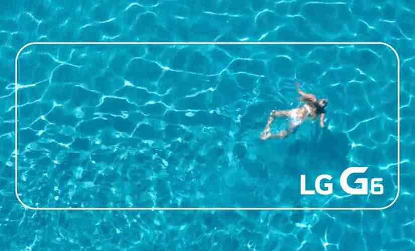 LG G6 water resistance teaser