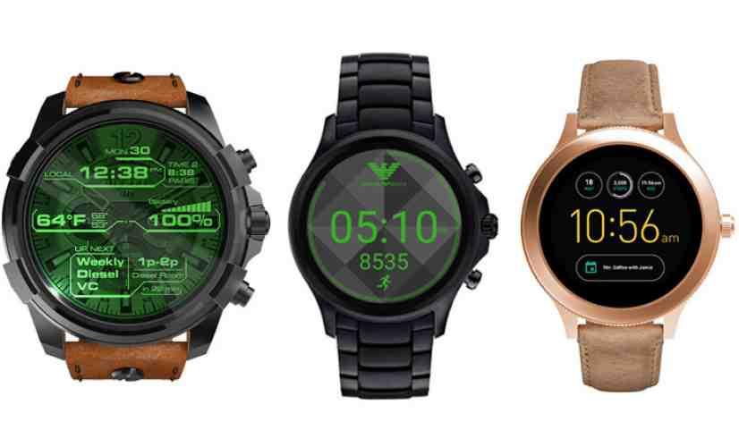 Diesel, Emporio Armani, Fossil smartwatches