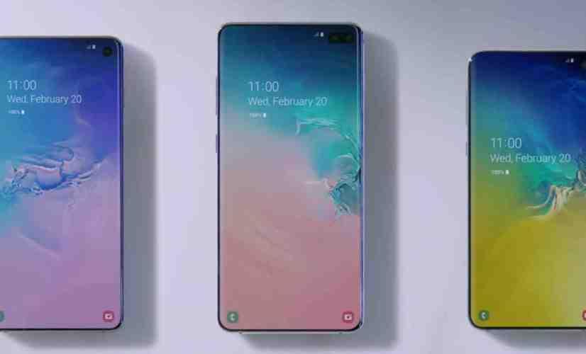 Samsung Galaxy S10e, Galaxy S0, and Galaxy S10+