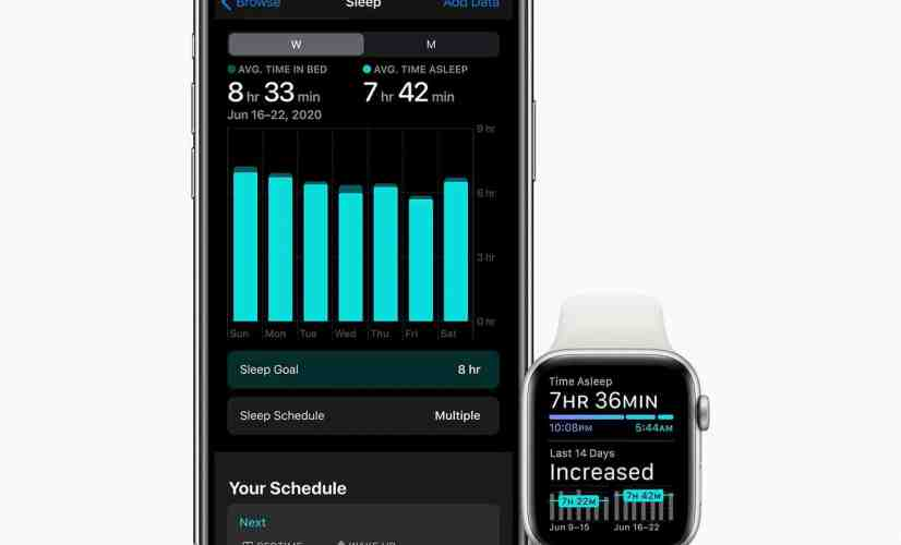Apple Watch watchOS 7 sleep tracking