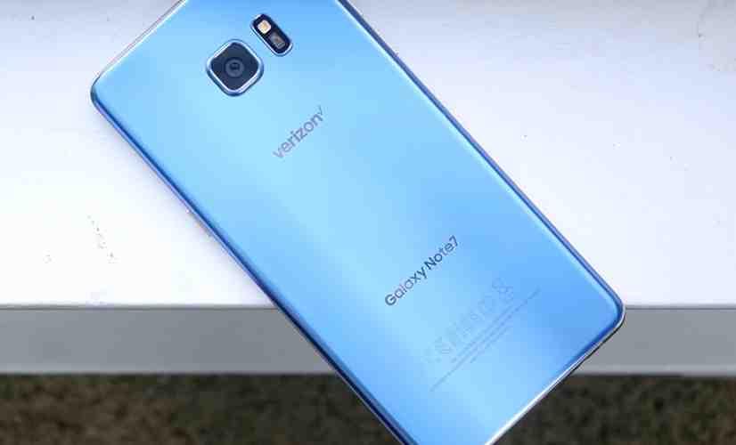 Verizon Galaxy Note 7 Blue Coral