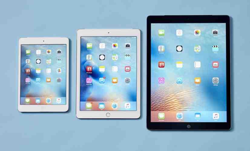 Apple iPad Pro 12.9, 9.7, and iPad mini 4