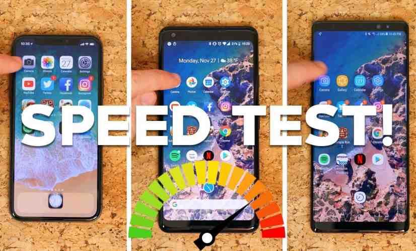 Speed Test: iPhone X vs. Pixel 2 XL vs. Note 8 - PhoneDog