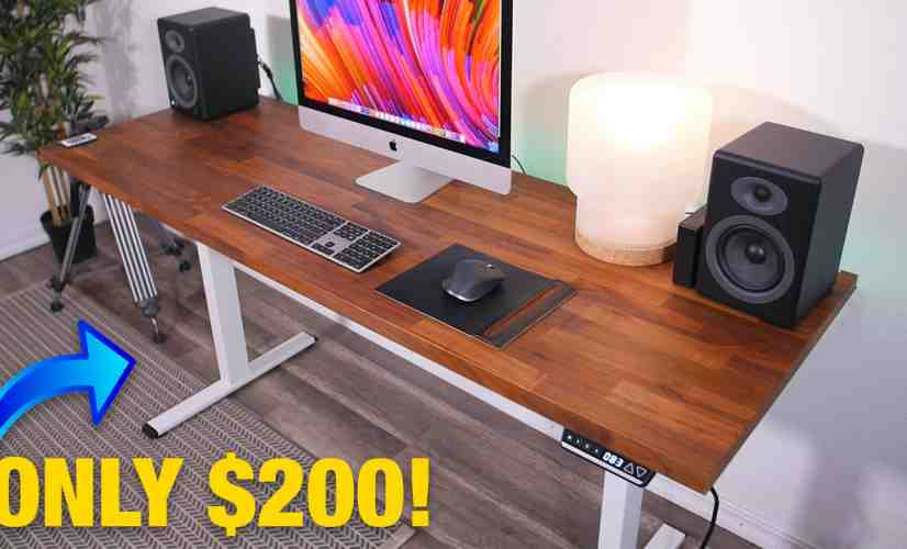 The Cheapest Motorized DIY Standing Desk On Amazon